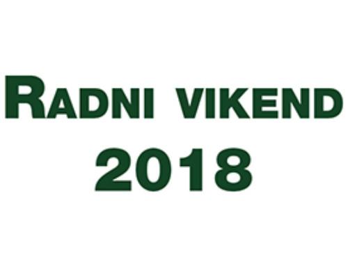 Program Radnog vikenda 2018.